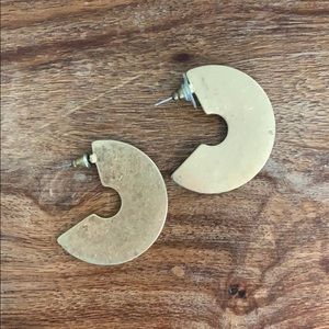 Francescas Half moon gold earrings